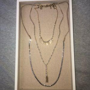 NWOT Stella & Dot Layering Trio Necklace